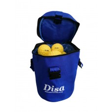 Disa Club Pro Round Top  Bag with 6 Yellow Dimple Throw Down Balls