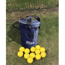 Disa Club Pro Round Top bag with 12 Yellow Dimple Throw Down Balls