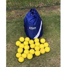 Disa Elite Carry Bag with 24 Yellow Dimple Throw Down Balls