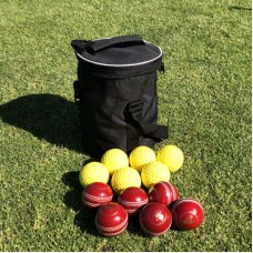 Disa Club Pro Round Top Bag with 6 Yellow Throw down balls & 6 Red MRG 100 Cricket balls