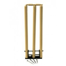 Disa set of 3 Springback Wooden Stumps on base